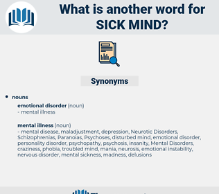 sick mind, synonym sick mind, another word for sick mind, words like sick mind, thesaurus sick mind