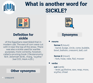 Synonyms for SICKLE, Antonyms for SICKLE - Thesaurus net