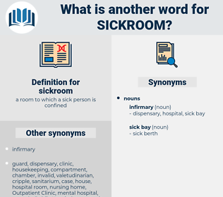 sickroom, synonym sickroom, another word for sickroom, words like sickroom, thesaurus sickroom