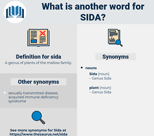 sida, synonym sida, another word for sida, words like sida, thesaurus sida