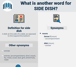 side dish, synonym side dish, another word for side dish, words like side dish, thesaurus side dish