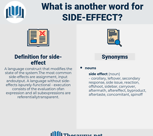 side effect, synonym side effect, another word for side effect, words like side effect, thesaurus side effect