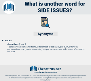 side issues, synonym side issues, another word for side issues, words like side issues, thesaurus side issues