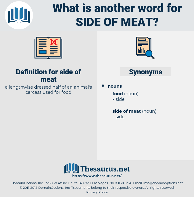 side of meat, synonym side of meat, another word for side of meat, words like side of meat, thesaurus side of meat