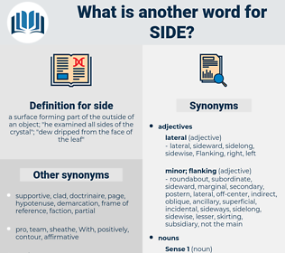side, synonym side, another word for side, words like side, thesaurus side