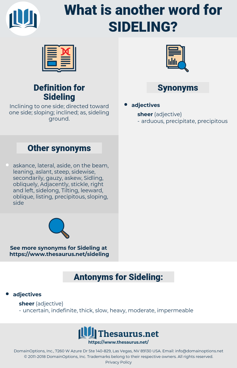 Sideling, synonym Sideling, another word for Sideling, words like Sideling, thesaurus Sideling