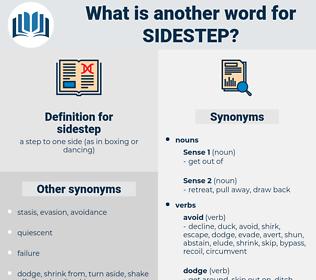 sidestep, synonym sidestep, another word for sidestep, words like sidestep, thesaurus sidestep