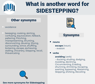 sidestepping, synonym sidestepping, another word for sidestepping, words like sidestepping, thesaurus sidestepping