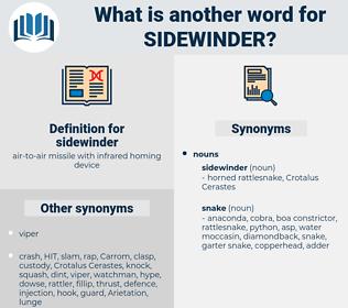 sidewinder, synonym sidewinder, another word for sidewinder, words like sidewinder, thesaurus sidewinder