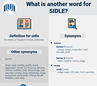 sidle, synonym sidle, another word for sidle, words like sidle, thesaurus sidle