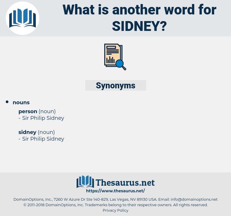 sidney, synonym sidney, another word for sidney, words like sidney, thesaurus sidney