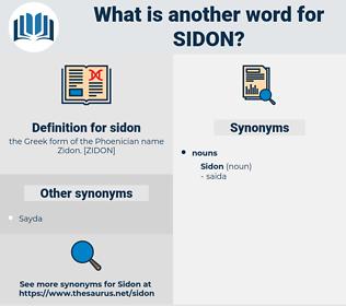 sidon, synonym sidon, another word for sidon, words like sidon, thesaurus sidon