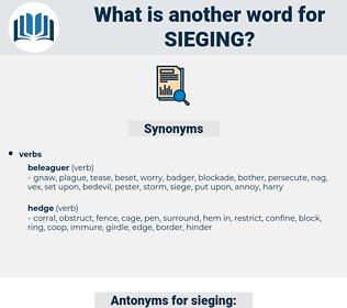 sieging, synonym sieging, another word for sieging, words like sieging, thesaurus sieging