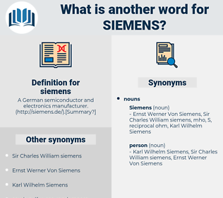 siemens, synonym siemens, another word for siemens, words like siemens, thesaurus siemens