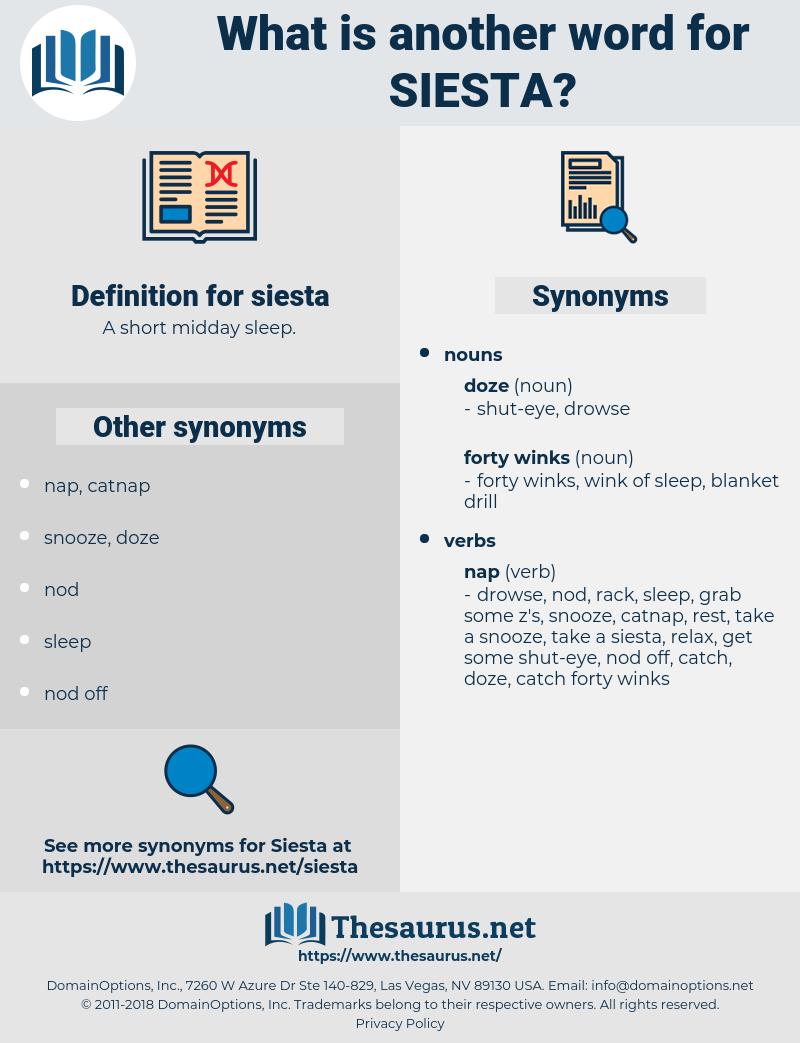 siesta, synonym siesta, another word for siesta, words like siesta, thesaurus siesta