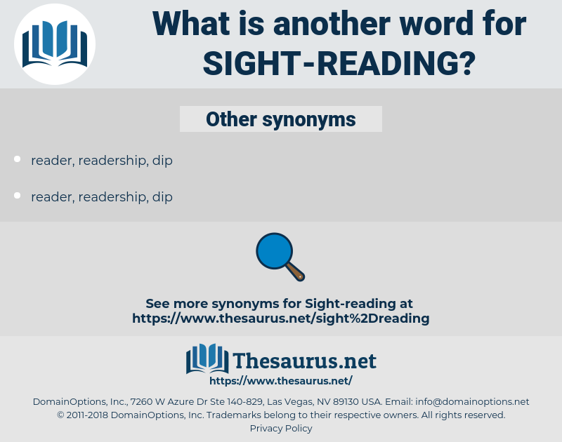 sight-reading, synonym sight-reading, another word for sight-reading, words like sight-reading, thesaurus sight-reading
