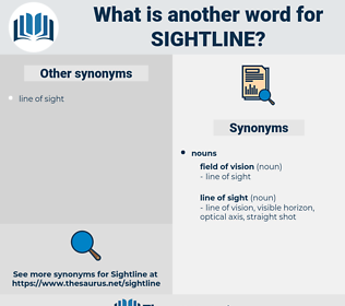 sightline, synonym sightline, another word for sightline, words like sightline, thesaurus sightline