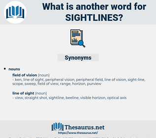 sightlines, synonym sightlines, another word for sightlines, words like sightlines, thesaurus sightlines