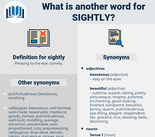 sightly, synonym sightly, another word for sightly, words like sightly, thesaurus sightly