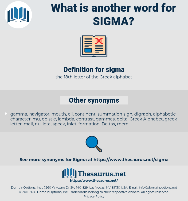 sigma, synonym sigma, another word for sigma, words like sigma, thesaurus sigma