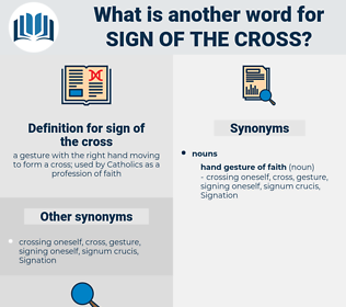 sign of the cross, synonym sign of the cross, another word for sign of the cross, words like sign of the cross, thesaurus sign of the cross