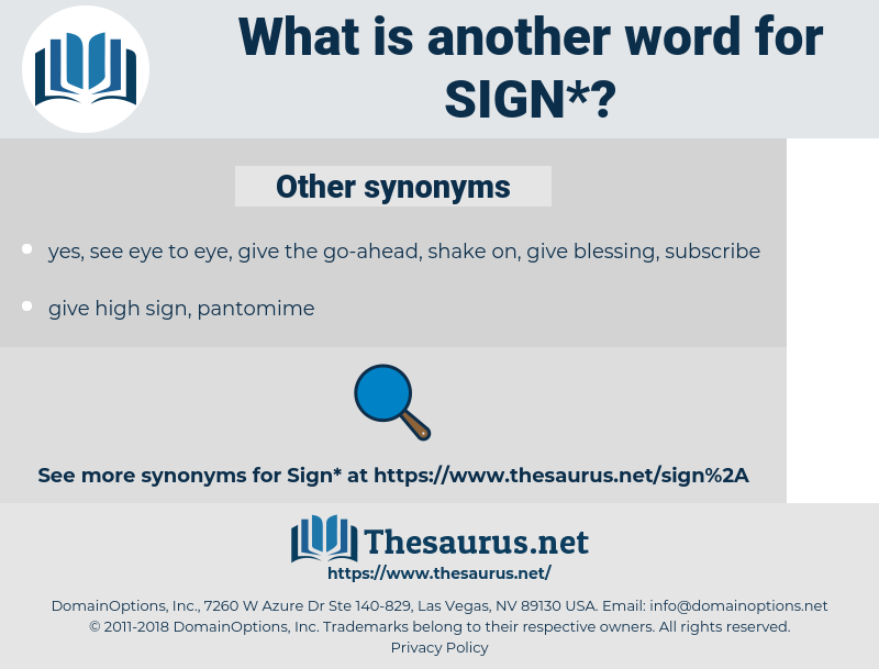 sign, synonym sign, another word for sign, words like sign, thesaurus sign