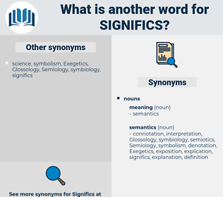 significs, synonym significs, another word for significs, words like significs, thesaurus significs