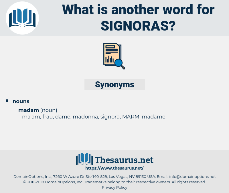 signoras, synonym signoras, another word for signoras, words like signoras, thesaurus signoras