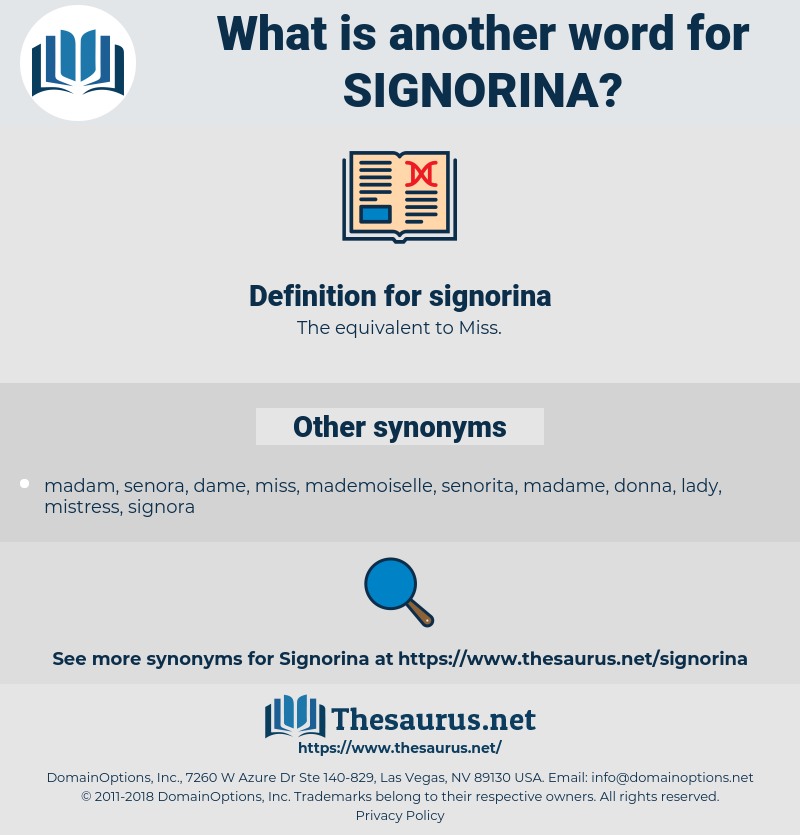 signorina, synonym signorina, another word for signorina, words like signorina, thesaurus signorina