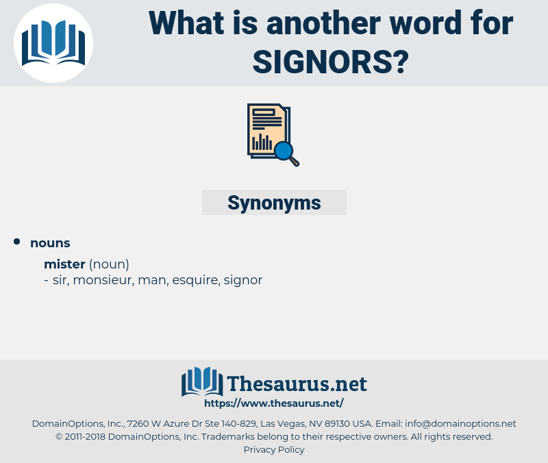signors, synonym signors, another word for signors, words like signors, thesaurus signors