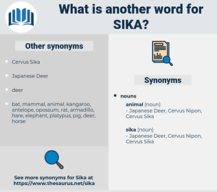 sika, synonym sika, another word for sika, words like sika, thesaurus sika