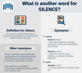 silence, synonym silence, another word for silence, words like silence, thesaurus silence