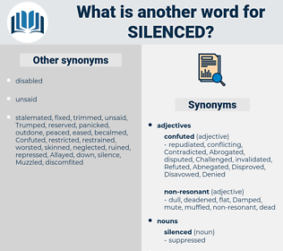 silenced, synonym silenced, another word for silenced, words like silenced, thesaurus silenced