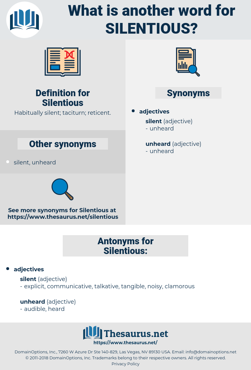 Silentious, synonym Silentious, another word for Silentious, words like Silentious, thesaurus Silentious