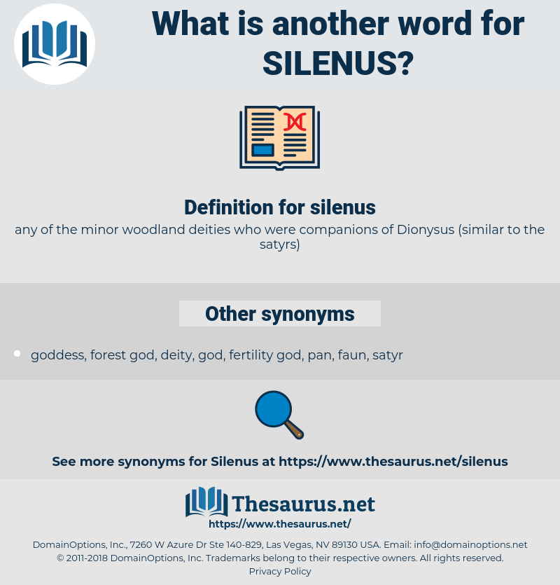 silenus, synonym silenus, another word for silenus, words like silenus, thesaurus silenus