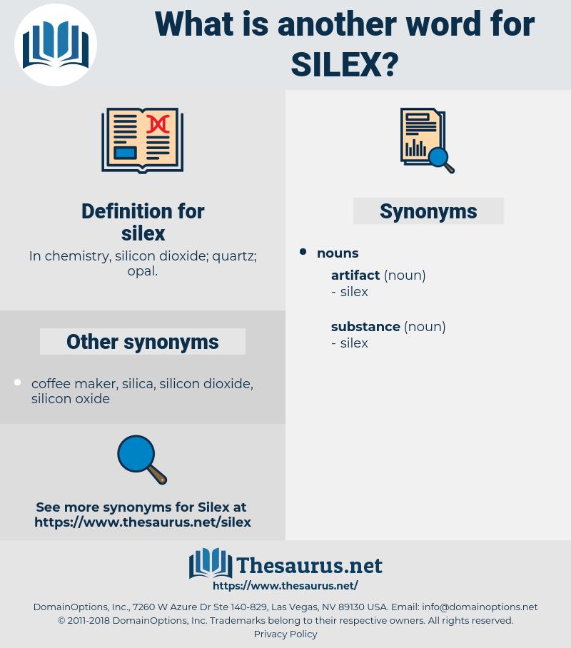 silex, synonym silex, another word for silex, words like silex, thesaurus silex