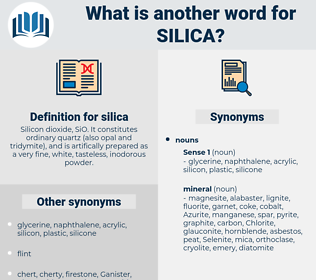 silica, synonym silica, another word for silica, words like silica, thesaurus silica