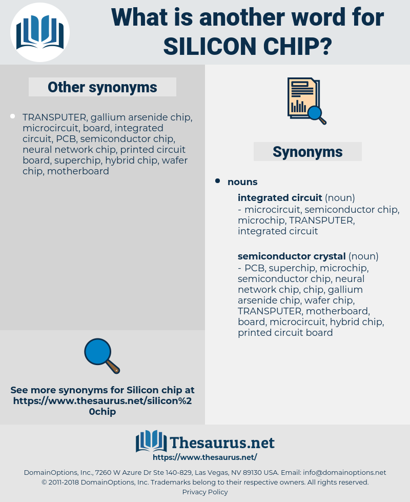 silicon chip, synonym silicon chip, another word for silicon chip, words like silicon chip, thesaurus silicon chip