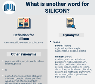 silicon, synonym silicon, another word for silicon, words like silicon, thesaurus silicon
