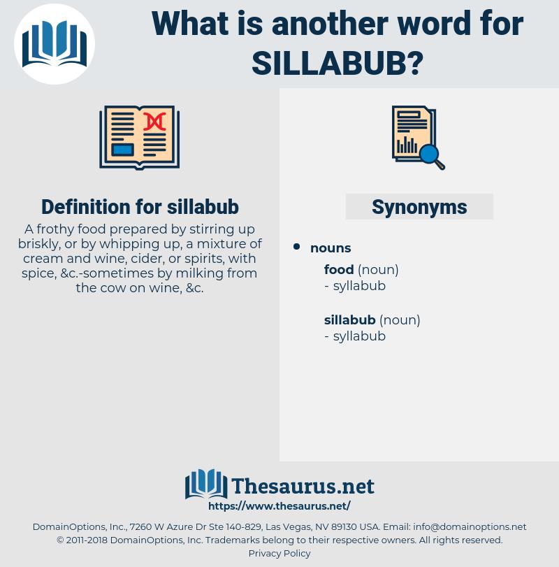 sillabub, synonym sillabub, another word for sillabub, words like sillabub, thesaurus sillabub