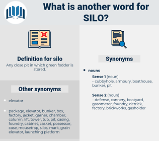 silo, synonym silo, another word for silo, words like silo, thesaurus silo