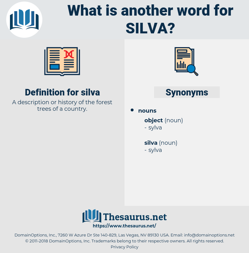 silva, synonym silva, another word for silva, words like silva, thesaurus silva