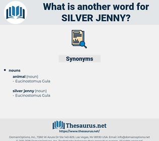 silver jenny, synonym silver jenny, another word for silver jenny, words like silver jenny, thesaurus silver jenny