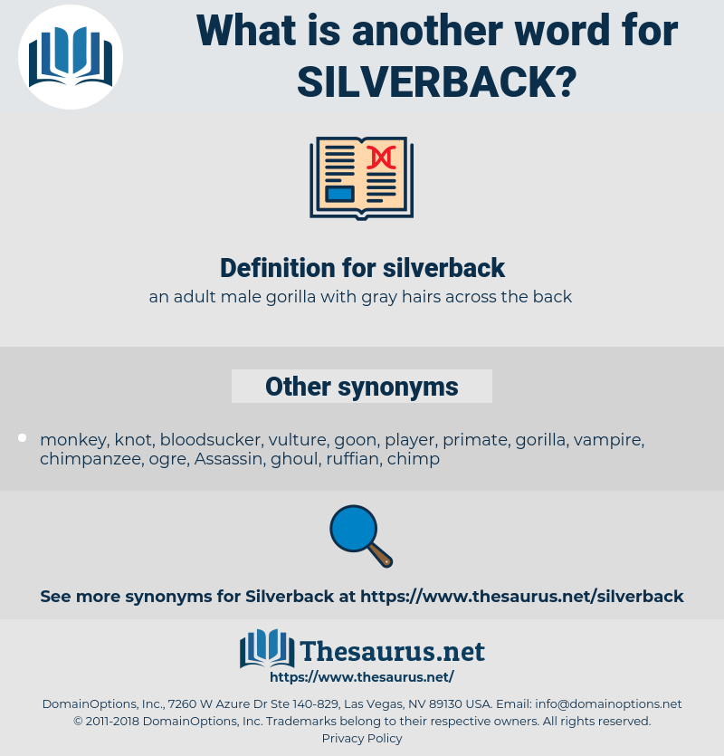 silverback, synonym silverback, another word for silverback, words like silverback, thesaurus silverback