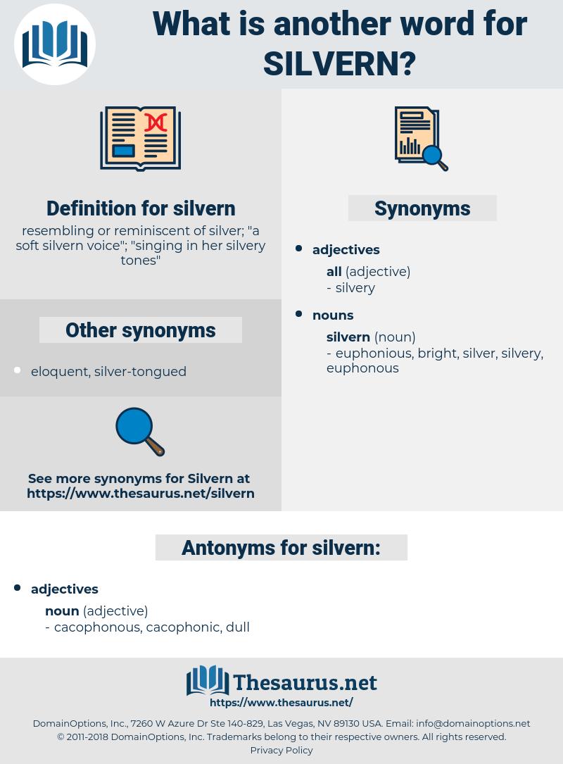 silvern, synonym silvern, another word for silvern, words like silvern, thesaurus silvern