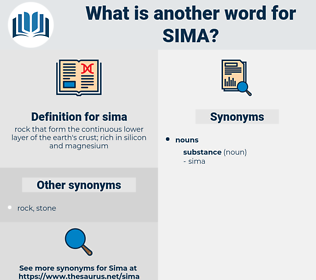 sima, synonym sima, another word for sima, words like sima, thesaurus sima