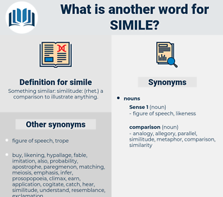 simile, synonym simile, another word for simile, words like simile, thesaurus simile