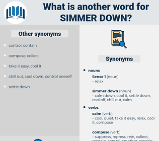 simmer down, synonym simmer down, another word for simmer down, words like simmer down, thesaurus simmer down