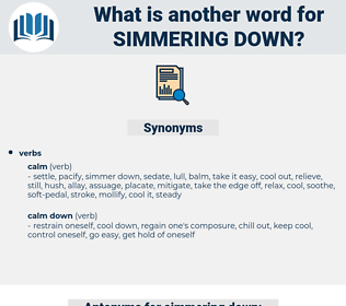 simmering down, synonym simmering down, another word for simmering down, words like simmering down, thesaurus simmering down