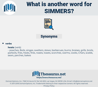 simmers, synonym simmers, another word for simmers, words like simmers, thesaurus simmers